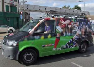 Sky Sports HD Van