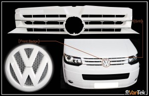 white grill nd badge d