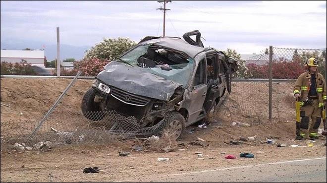 Bakersfield- highway-99-car-accident-honda-minivan-crash-may-2014