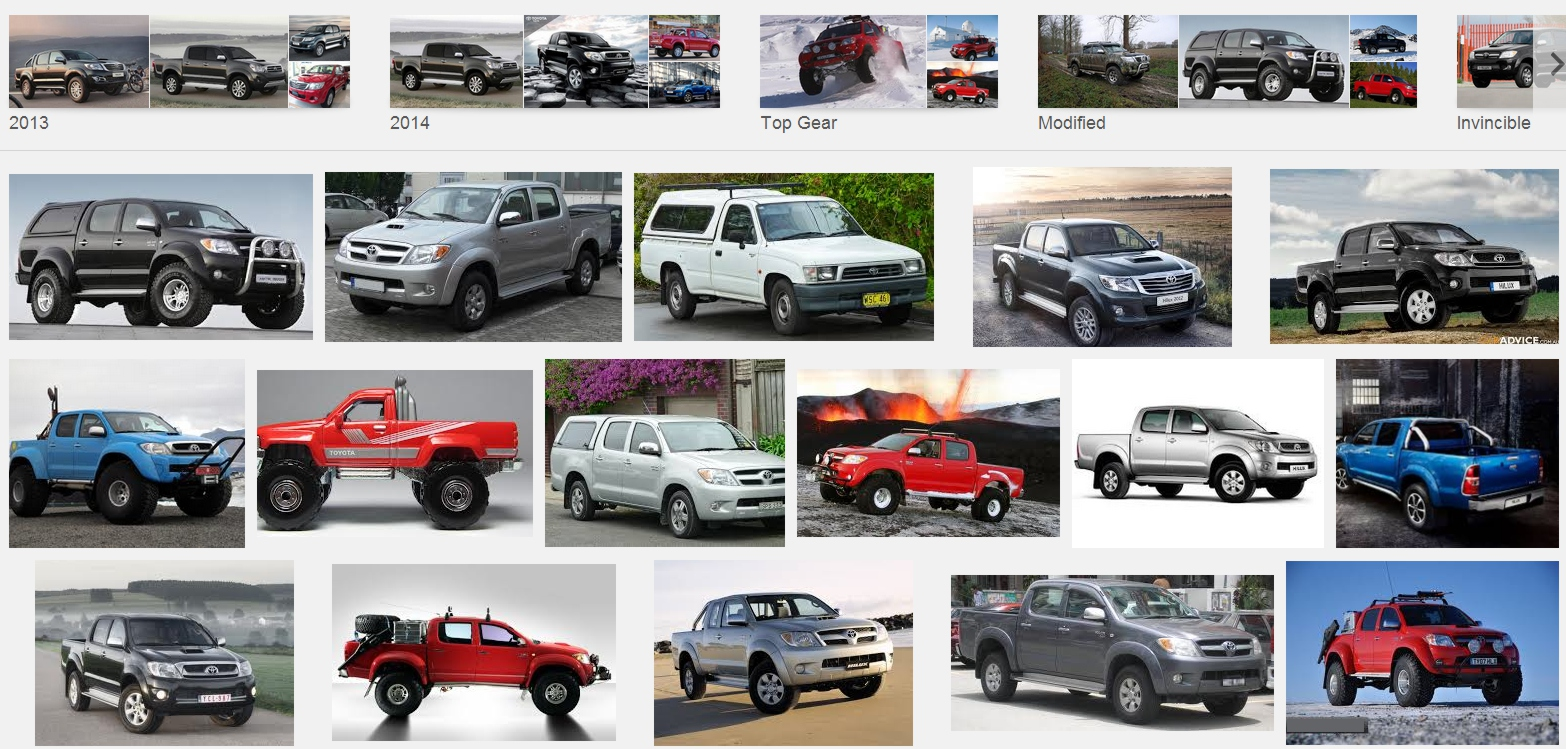 Toyota Hilux Variations