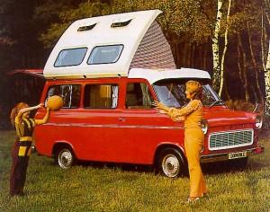 Shiny Red 1966 Ford Transit Dormobile