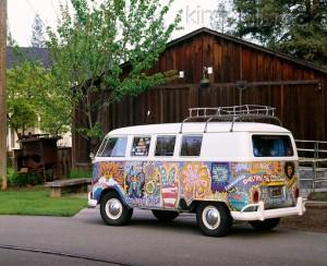 Flower Power 1965 Kombi Hippie Van