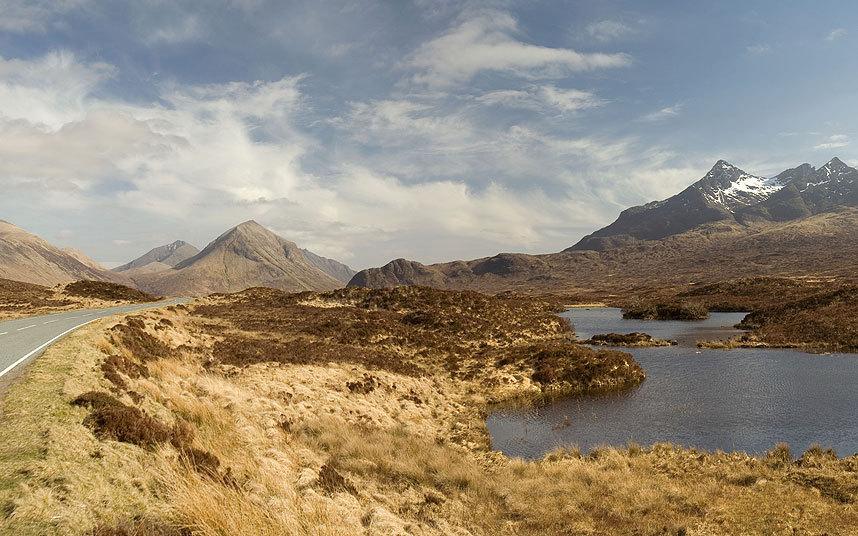 A87, A863 and A850 around Skye