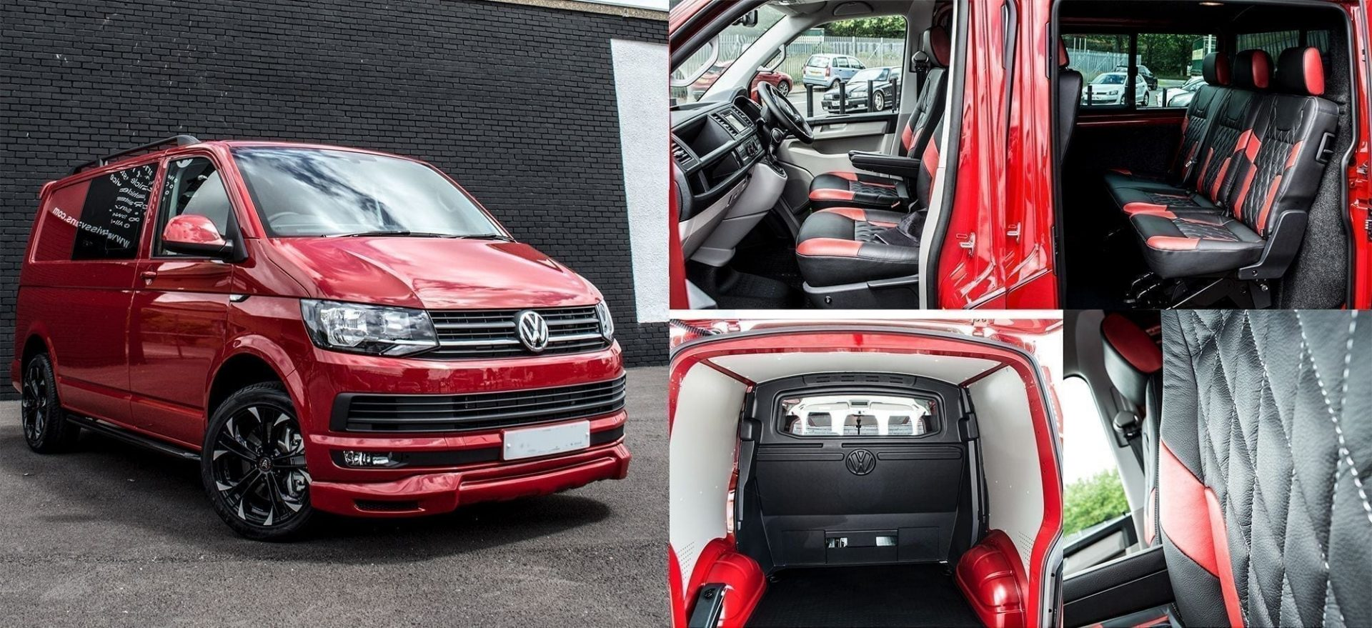 vw transporter highline kombi WASP red edition