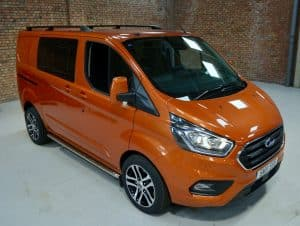 Ford Transit Custom Double cab with alloys and Roof Bars